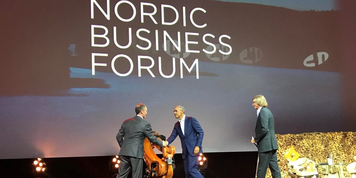 Pep Rosenfeld Nordic Business Forum host