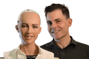 Sophia the Robot and David Hanson